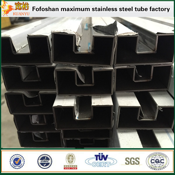 ASTM A249 polished grooving square stainless steel tubing