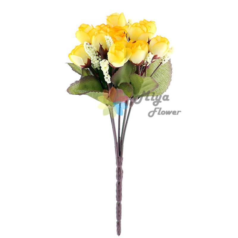 5 branches decorative artificial silk flower Rose