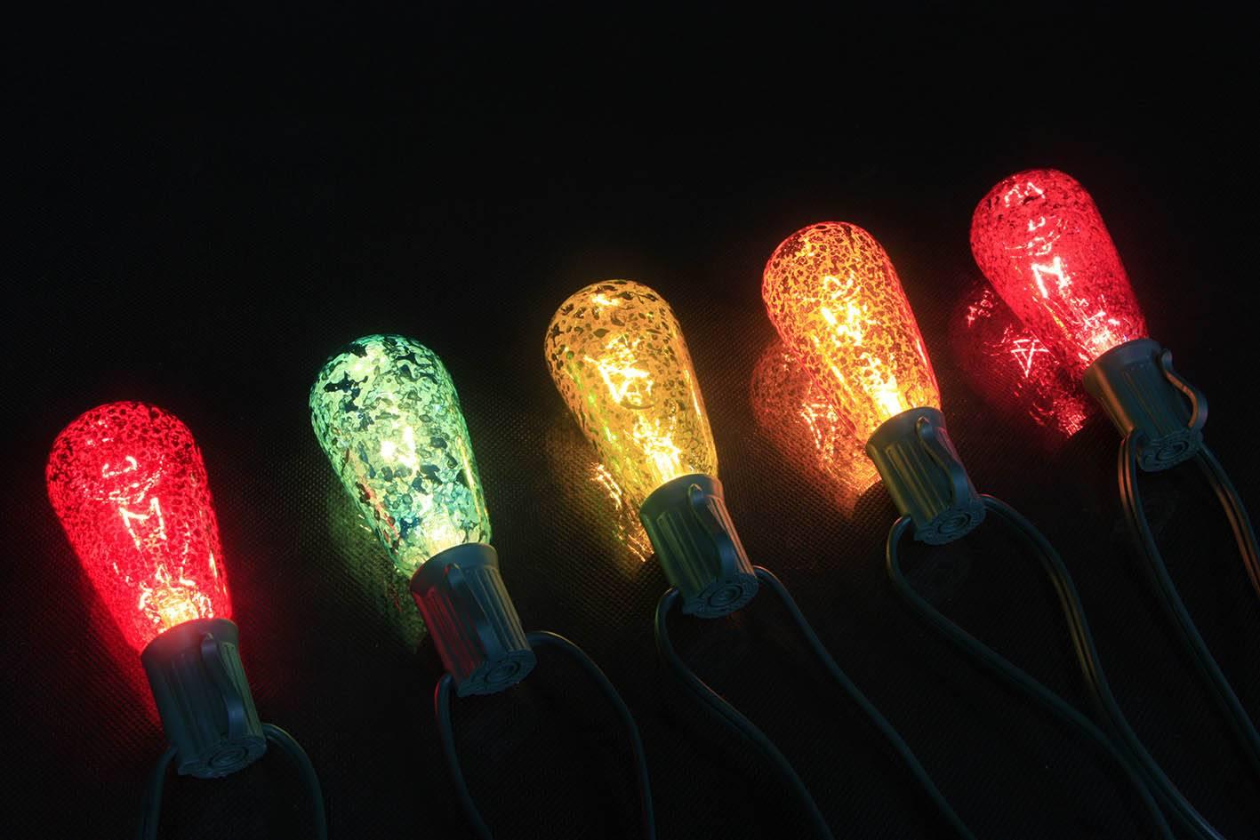 ST40 multicolour MERCURY  finish Edison Bulbs  10 Light String KF01723-M