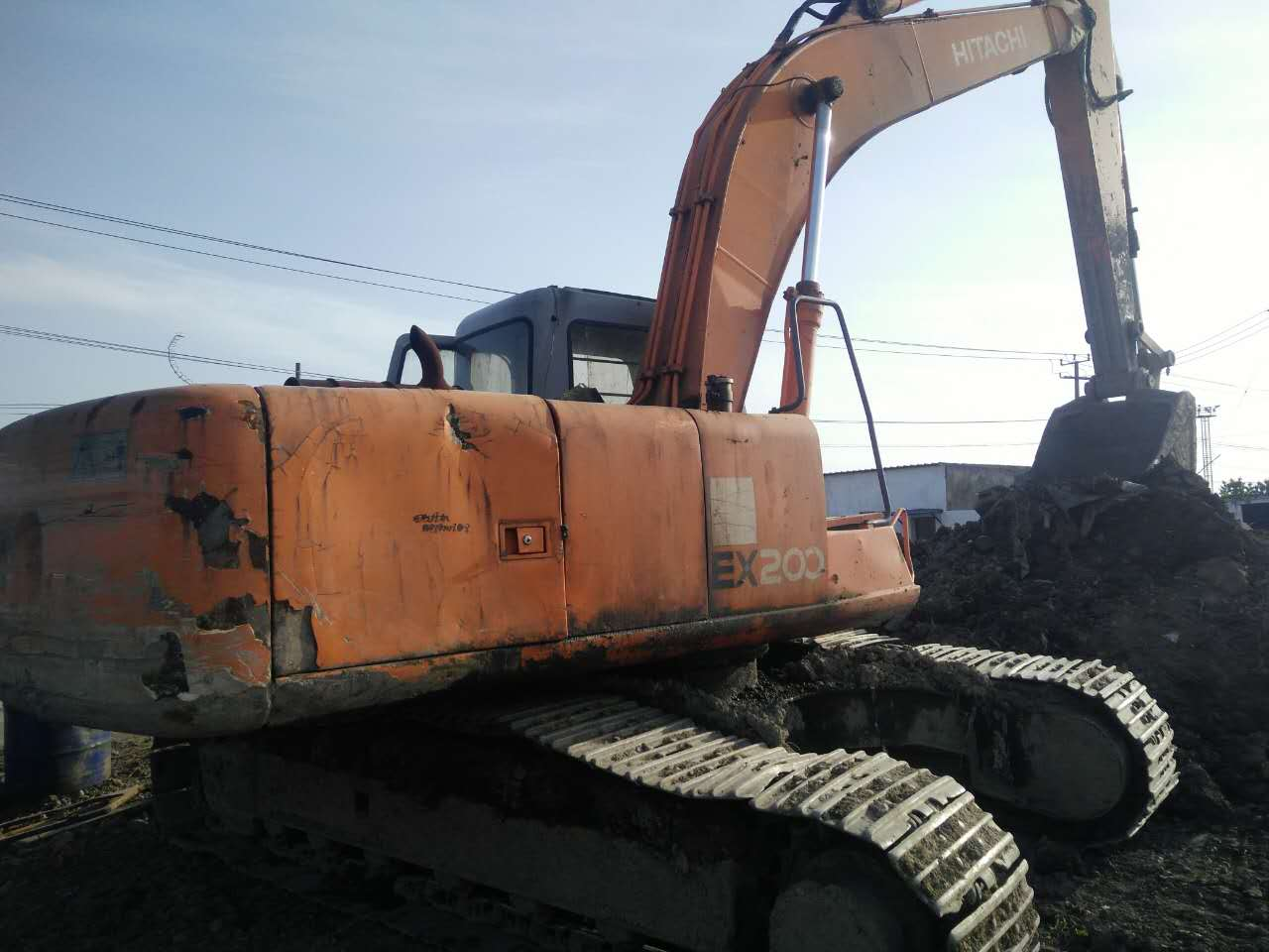 used Hitachi ex200-3 ex200-1 ex200-2 crawler excavator in cheap price for sale