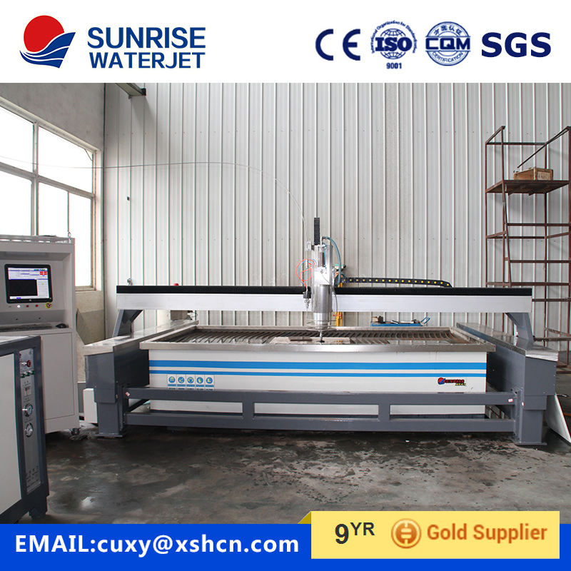 Gantry type waterjet cutting machine for metal/ glass/stone
