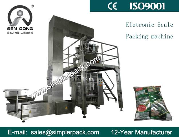 Fully Automatic Herbs Packing Machine with 10 Head Weighs