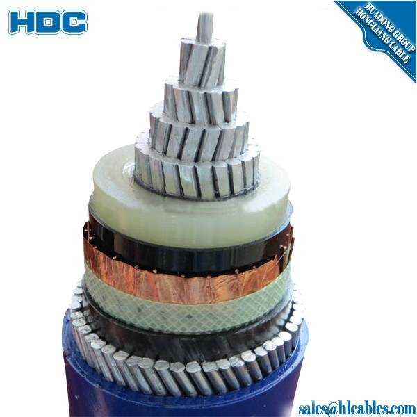 aterproof single core Copper XLPE 110kV 500sqmm underground high voltage power cable price