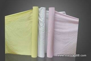 Interleaving Separate tissue paper for cuting room