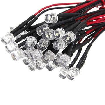 12V 20cm Pre-wired 3mm DIP LED 5mm LEDs Bulb