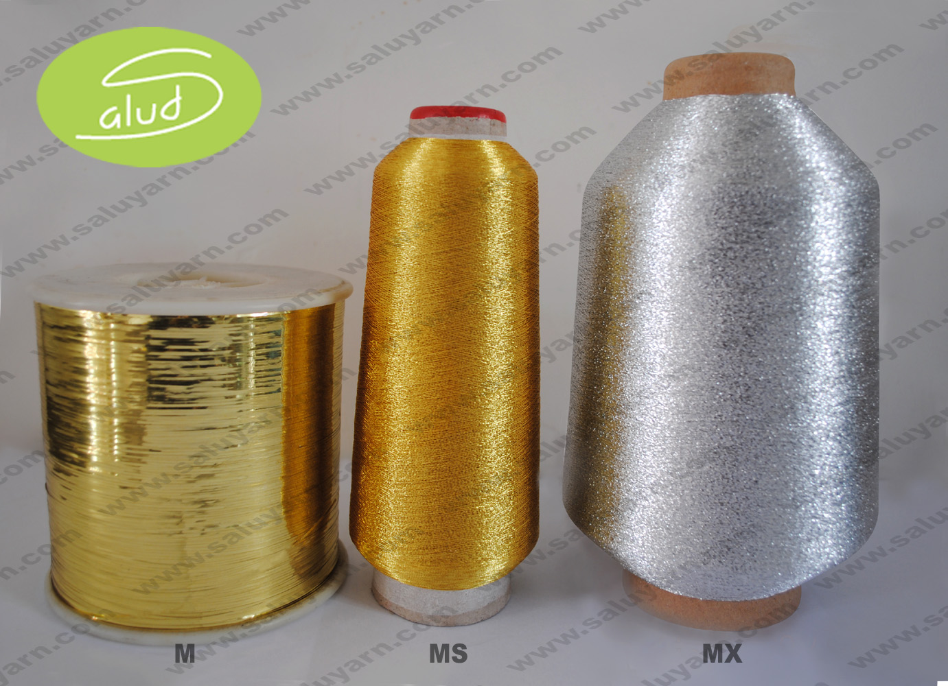 M MH MX MS type metallic yarn/ homemade fancy pattern