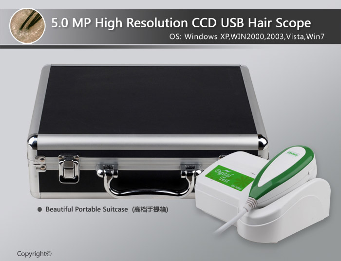 Skin Analyzer 5.0 MP high resolution skin scope