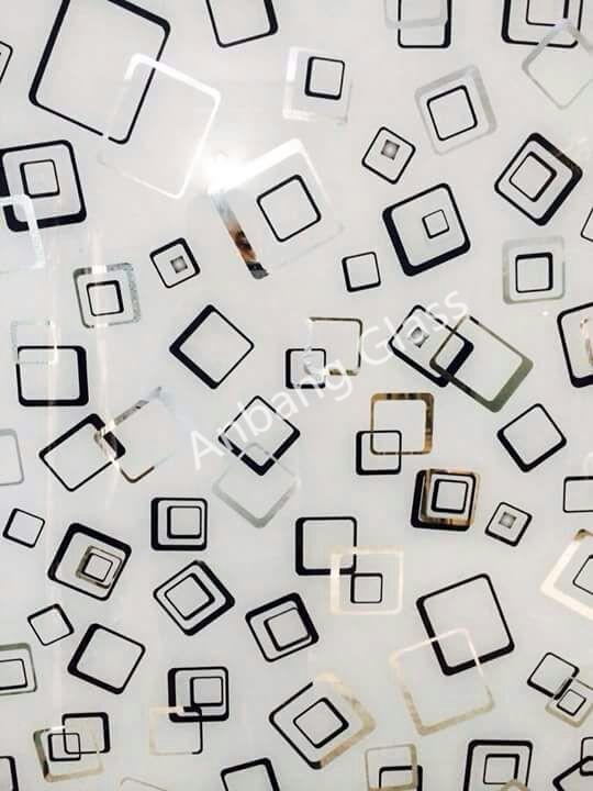 decorative titanium coated acid etched mirror glass