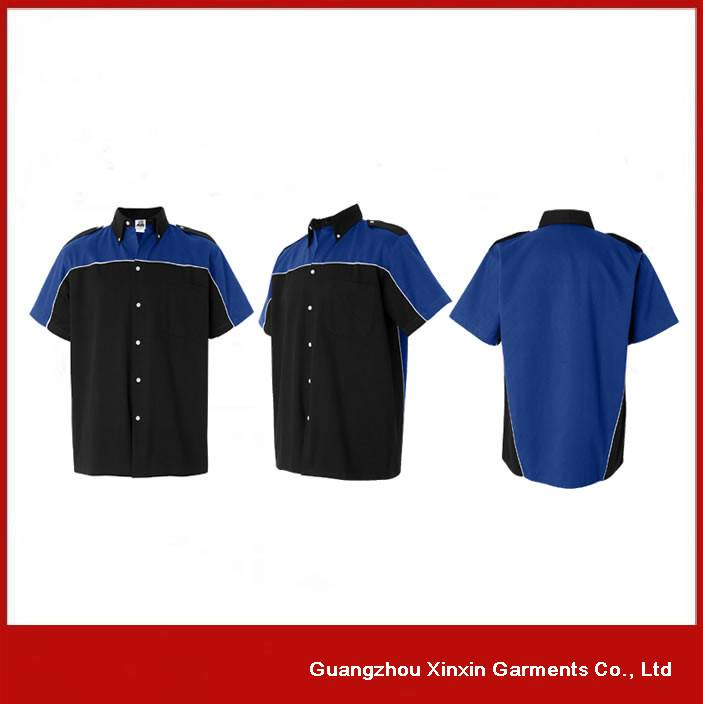 Customized short sleeve 4S shop workers shirts S14-2