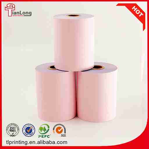 Good printed NCR carbonless cash register paper roll