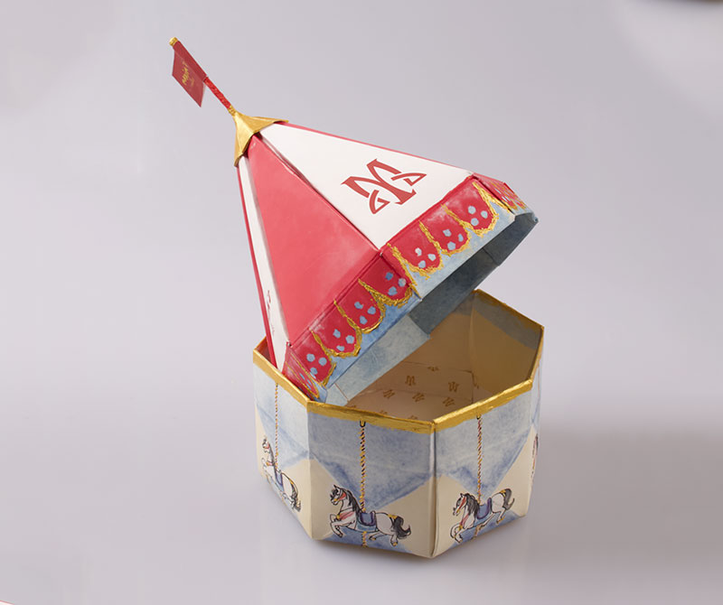 Handmade print cardboard paper chocolate packaging box