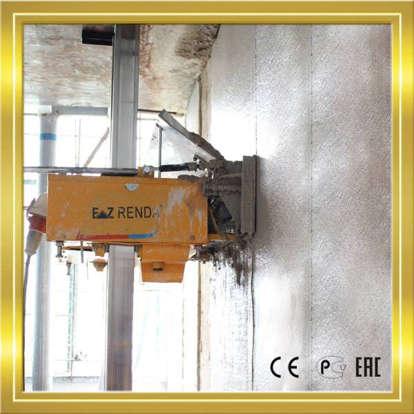 Automatic plastering machine for construction tools with gypsum plastering materials