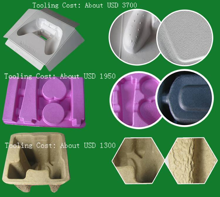 Biodegradable customized play controler Customized export grade dyeing wet pressing paper pulp molde