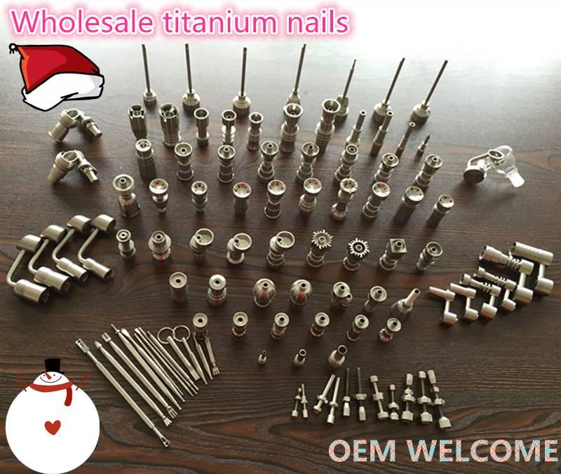10mm 14mm 18mm gr2 titanium nail for smoking