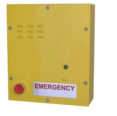Wall mounted emergency call box