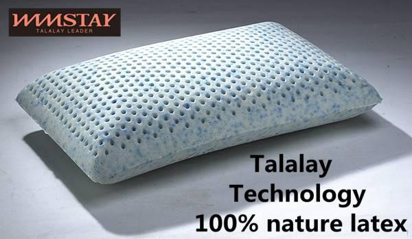 Talalay Technics Process 100% Nature Latex Foam Pillow Bamboo-Charcoal Curve Pillow