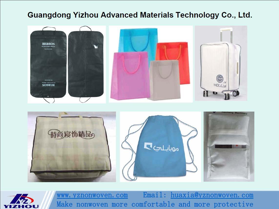 pp spunbond nonwoven fabric for sleeping bag, luggage bag, shopping bag, garment bag