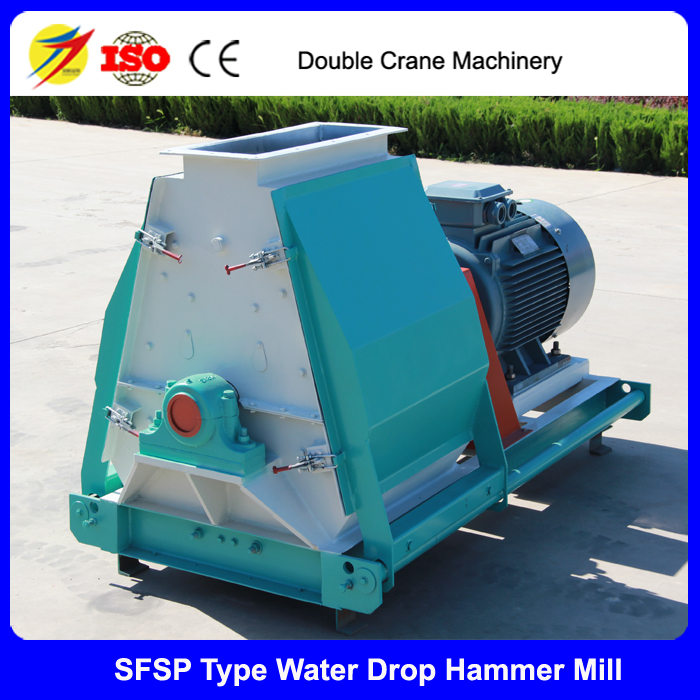 Water drop poultry feed hammer mill