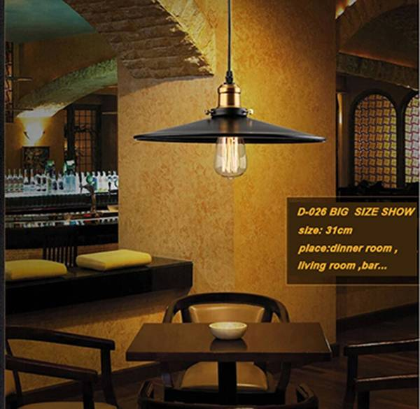 Industrial style pendant lamp 2015 pop indoor lighting