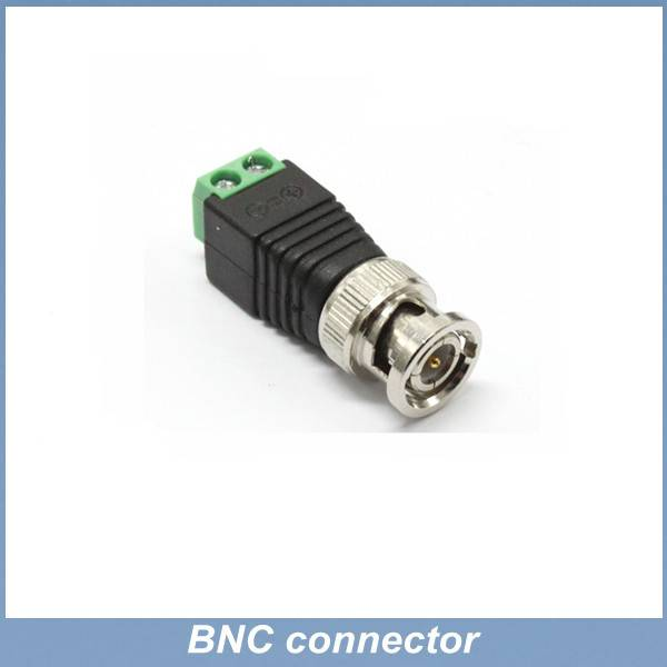 green and black color BNC male plug adapter to terminal connector for CCTV,LED