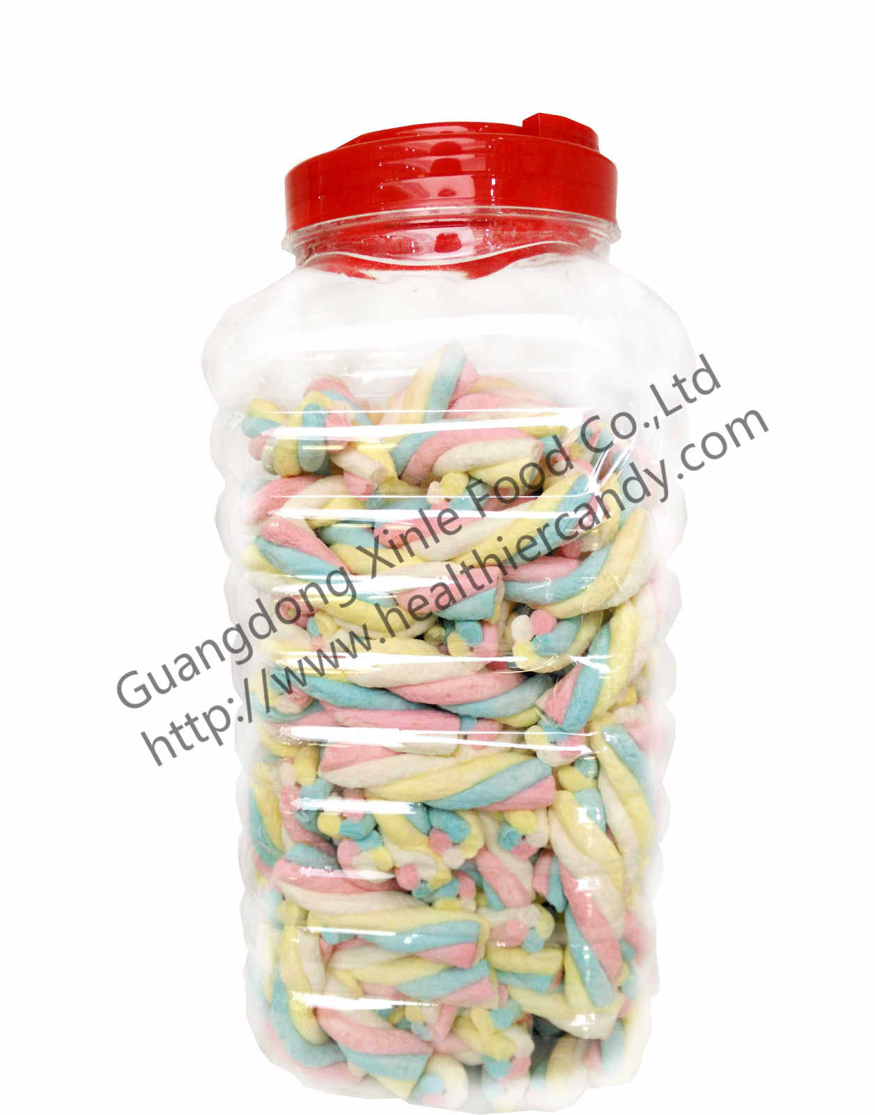 Rope Shape Twisted Marshmallow Candy , Gourmet Marshmallow Easter Candy