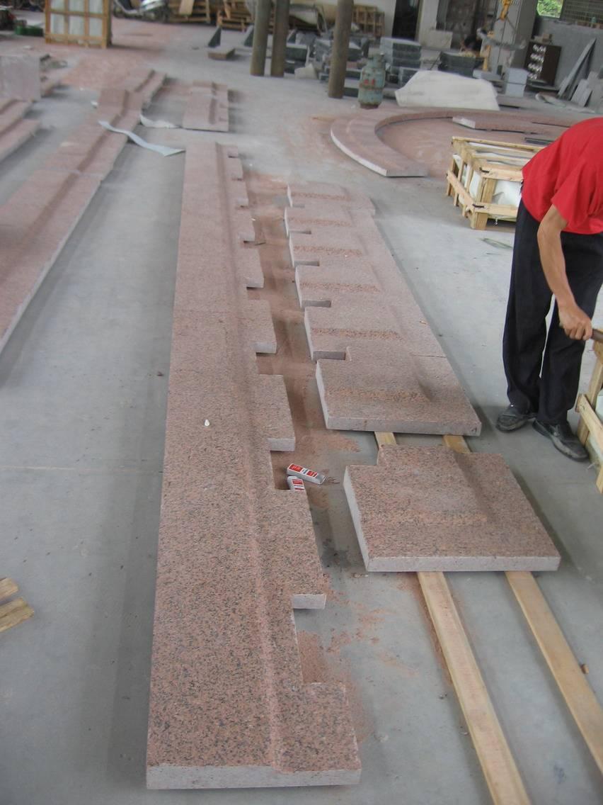 China Red Granite Paver, Granite Coping, Tianshan Red