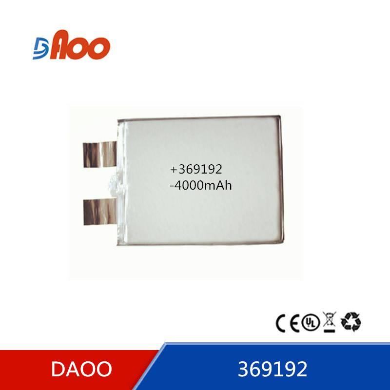 High quality  Li-polymer batteries 369192  rechargeable batter