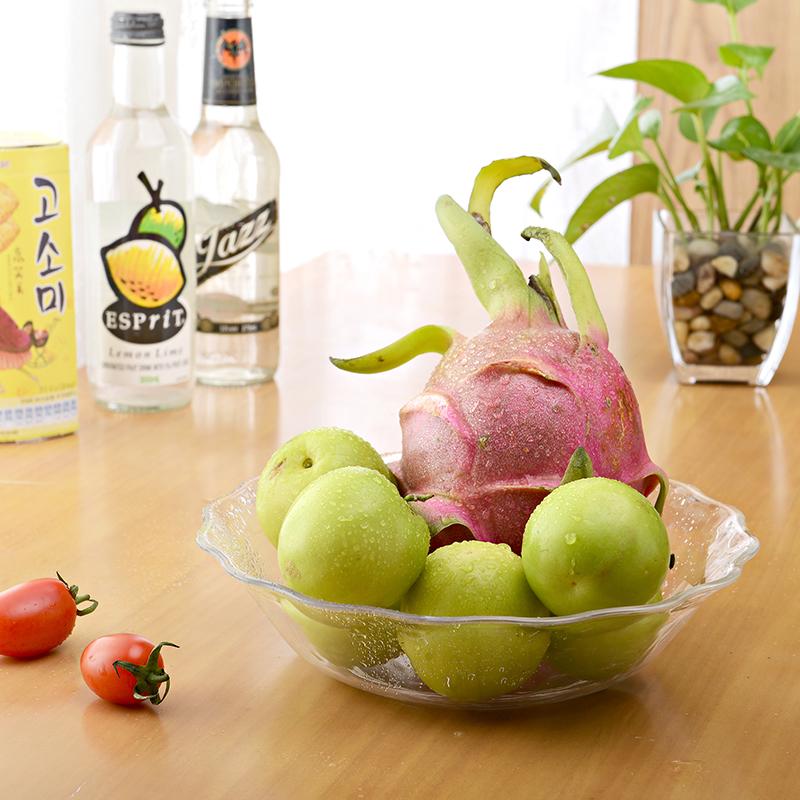 4004 Food grade transparent salad bowl/plastic fruit bowl