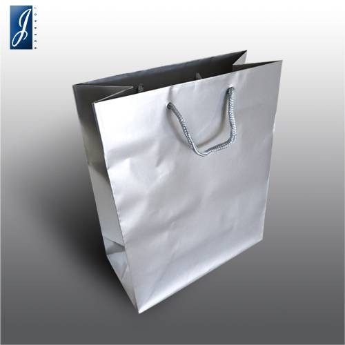 Currency small silver shopping bag
