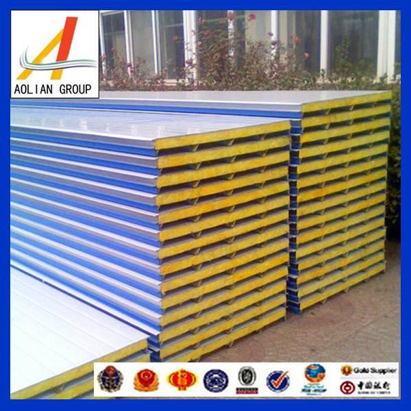 Color steel fiberglass wool sandwich panel for roof