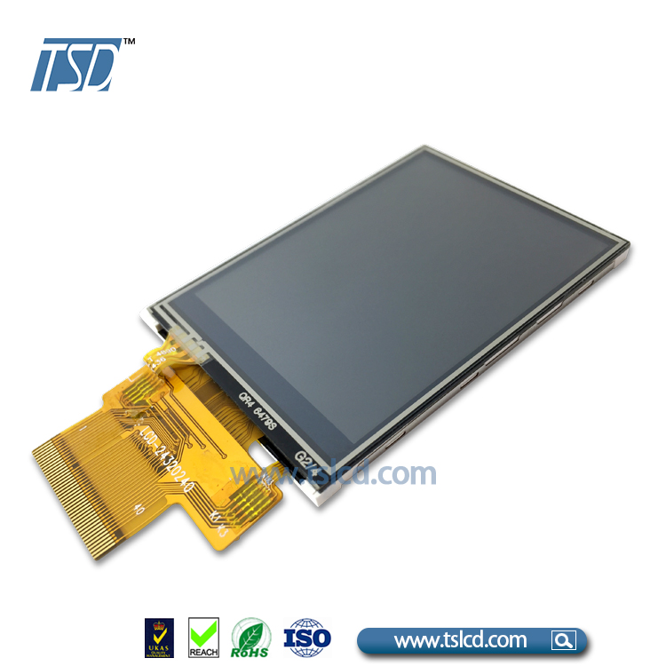 2.4 inch LCD module 240x320 with MCU interface and Resistive touch screen
