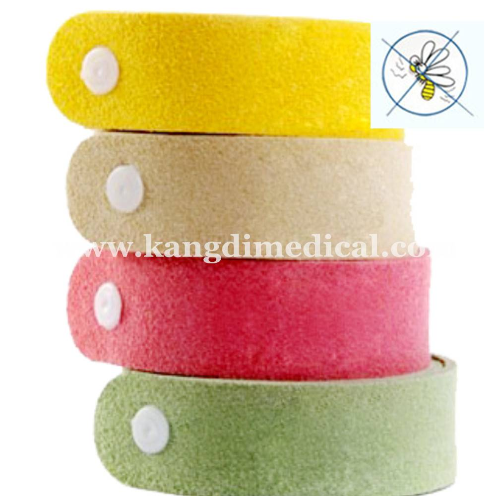 Kangdi OEM safety best price wholesaler mosquito repellent wristband bracelet