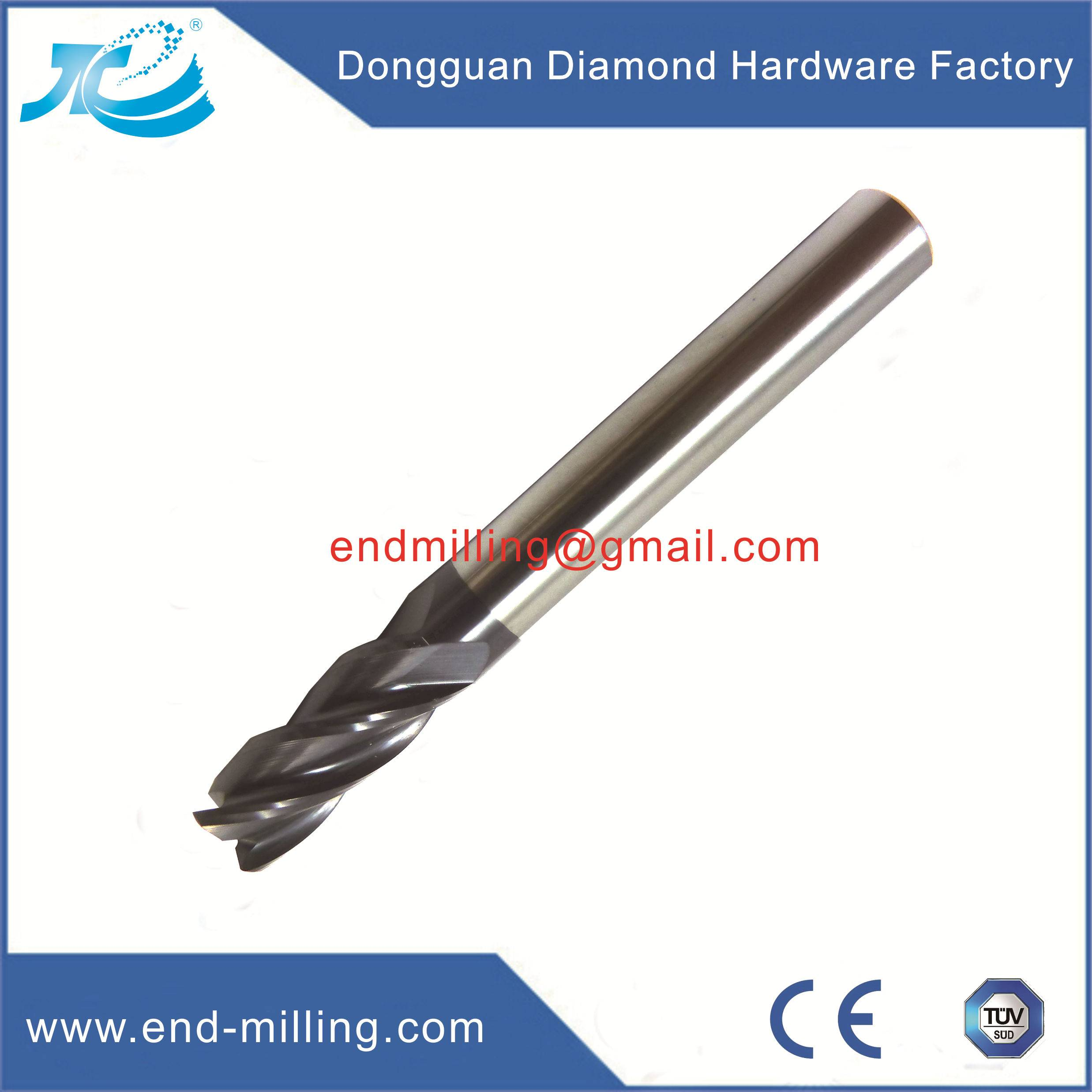 CNC End Mill Cutter 2/4 Flute Corner Radius End Mill Tungsten Steel