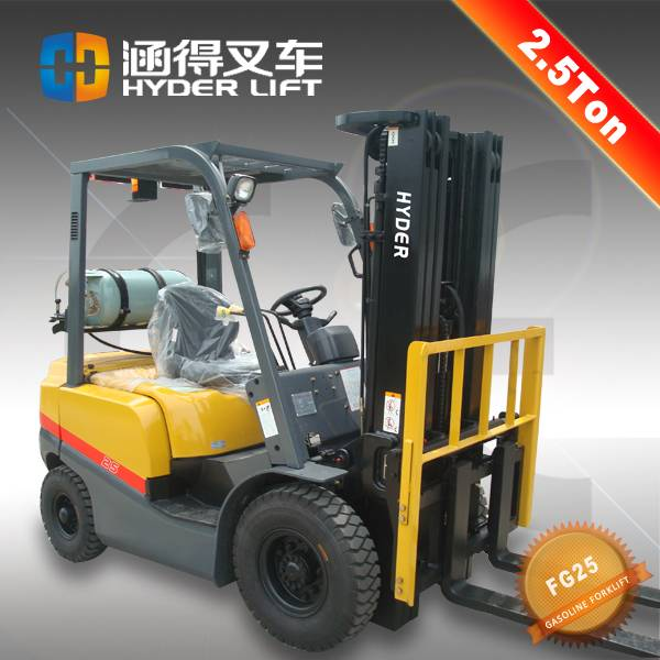 High efficient 2.5 Ton Gas/LPG Forklift With Nissan K21 Engine