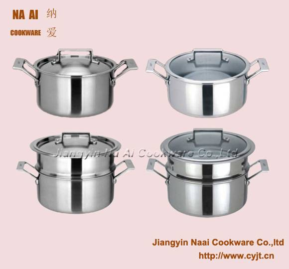 Stainless Steel Casserole with Steamer Set