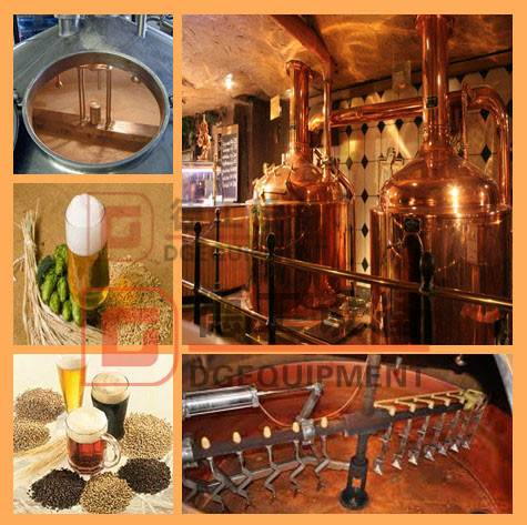Commercial used red copper beer brewing equipment