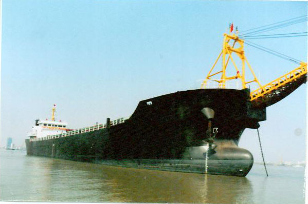 5500T self-suction and discharge sand barge