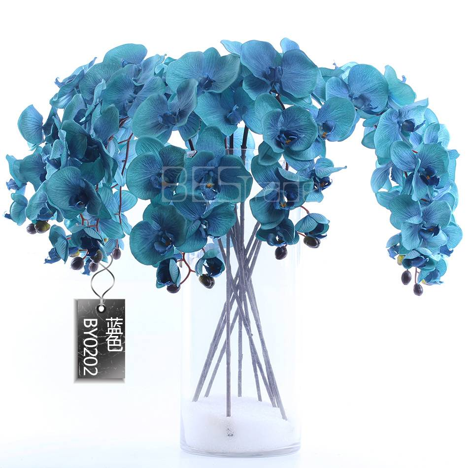 Wholesale China artificial silk 10 HEAD single branch The butterfly flowers