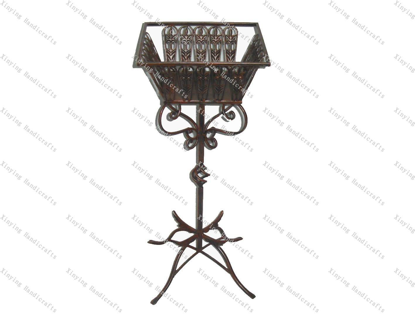 Wrought Iron Flower Stand For Garden Decorations Anxi Xinying
