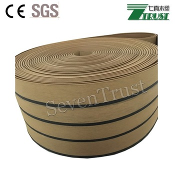 Embossing and sanding synthetic marine teak decking soft pvc decking,Isistek