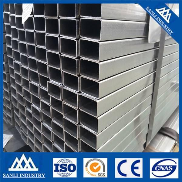 hot dip galvanized rectangular steel pipe