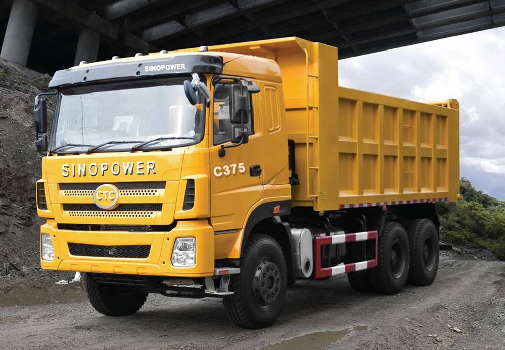 China Famous Brand  SINOPOWER 6x4 yellow dumper truck for sale