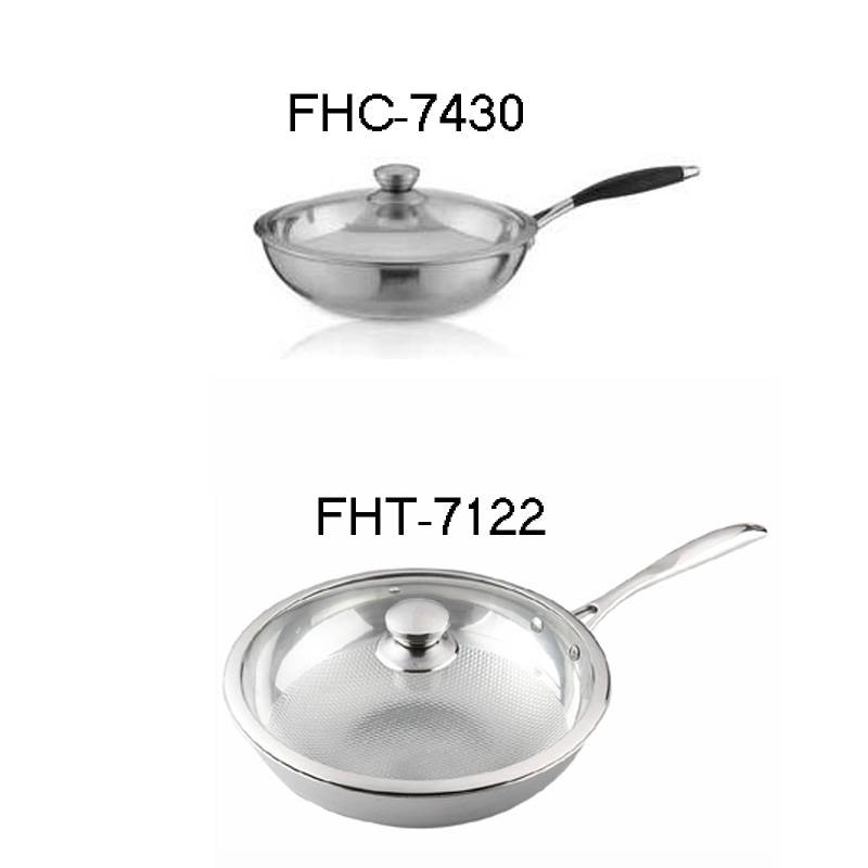 304Stainless steel pot-embossing wok