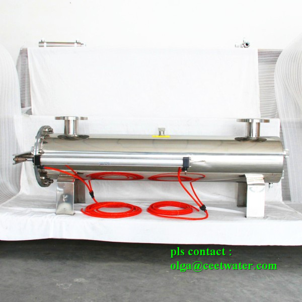 Over-flow water disinfection UV sterilizer