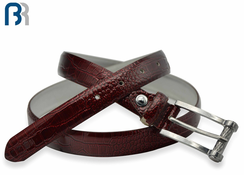 Ladies Red Snake Surface Feather Belt