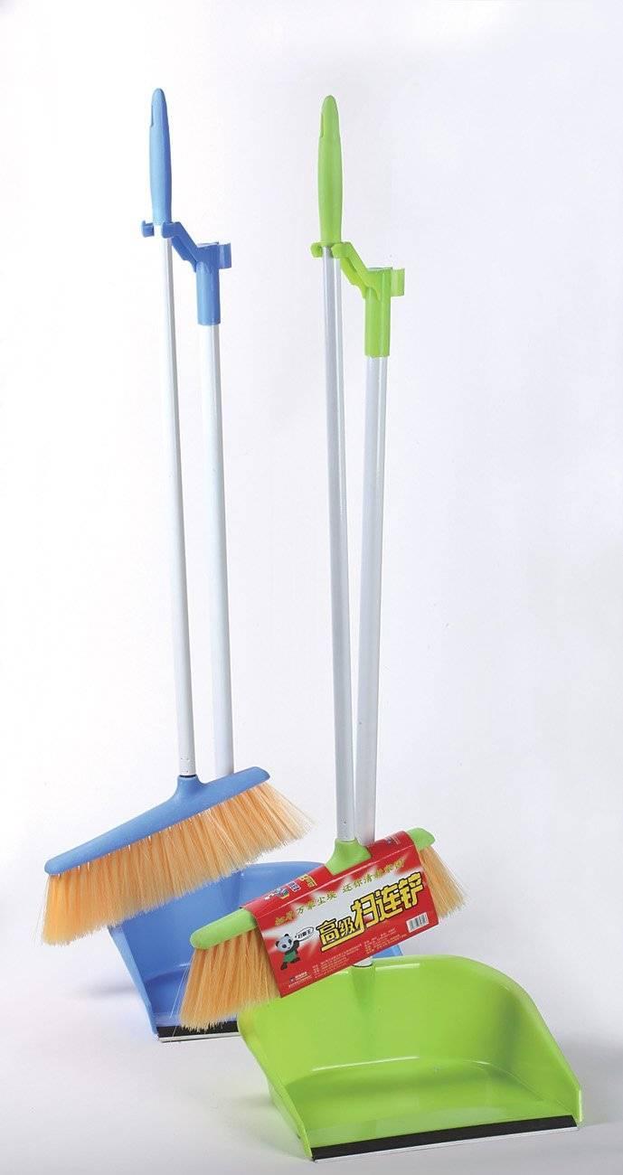 HQ0802 house Plastic wonderful cleaning floor broom and dustpan W/ PP tip set
