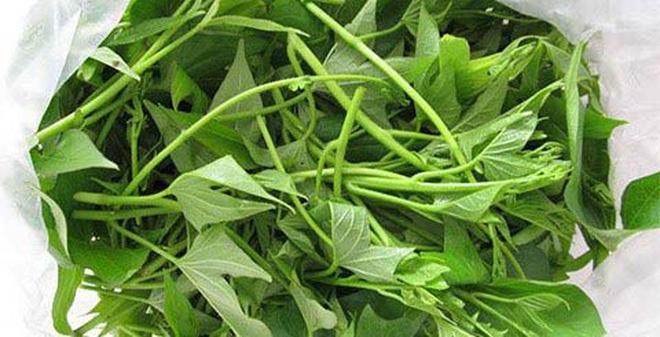 Frozen Sweet Potato leaves