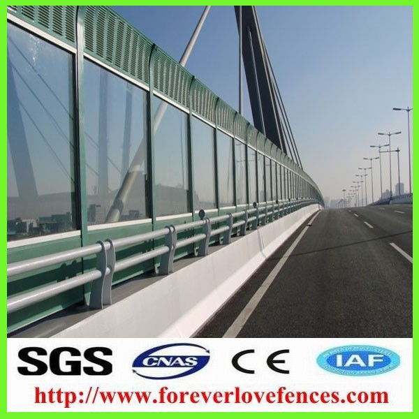 hot-selling high quality low price highway used metal soundproof materal sound barrier/noise barrier