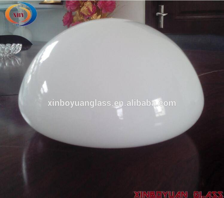 XBY-EM10624 hand blown opal shiny mushroom shape LED glass light shade