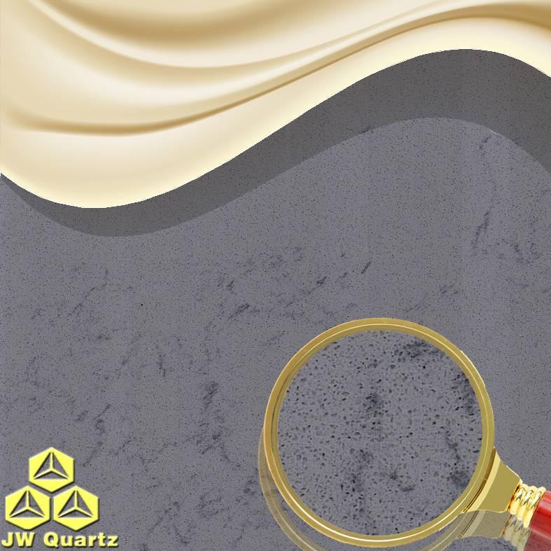 JW-5217 Whale Grey-Anti Aging Quartz Stone Slab for Countertop